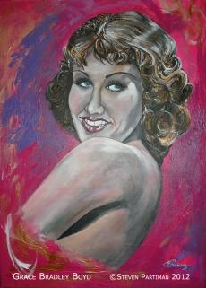 Portret van Grace Bradley Boyd genaamd Grace