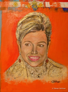 Portret van koningin Maxima