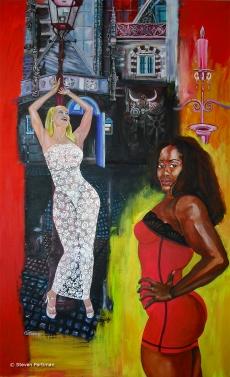 Portret van Monique Sluyter en Lethal Veronica genaamd Rouge